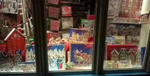 Cornflowers window display